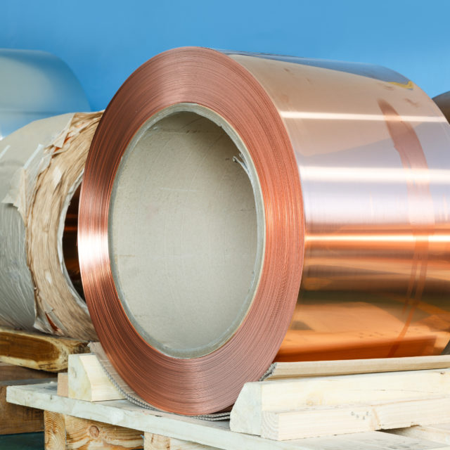 Rolls of copper foil waiting for assembly